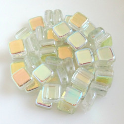Tile Crystal Green Rainbow,...