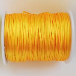 Saténová šňůrka žlutá, 1,5...