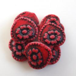 Korálky Srdce s růží,...