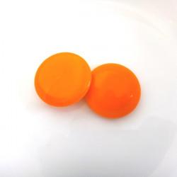 Skleněný kabošon oranžový,...