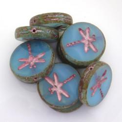 Ploškované korálky Vážka...