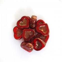 Ploškované korálky Srdce,...
