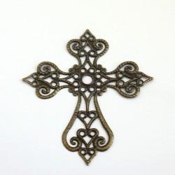 Filigrán Kříž, starobronz,...