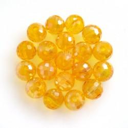 Broušené korálky Yellow AB,...